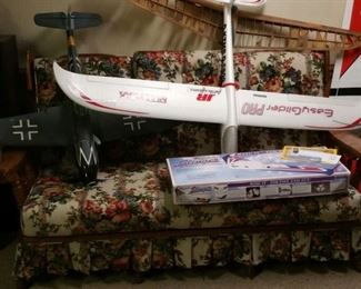 RC planes run the gamut from small ready to fly to 1/12 to 1/4 scale. Balsa, foam, plastic .... great variety.