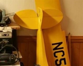 Cub Rc plane. Camera tripod also shown.