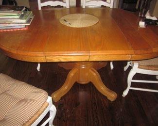 Oak Pedestal Kitchen/Dining Suite Table
