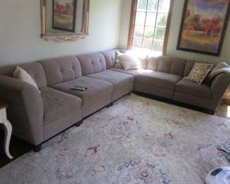 Raymour & Flanigan Sectional Sofa Like New