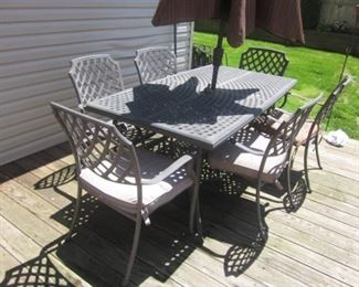 CAST Iron Patio Outdoor Suites and Lounge Chairs