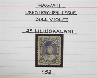 Hawaii Used 1890-1891 Issue