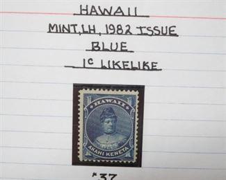 Hawaii Mint, LH, 1982 Issue
