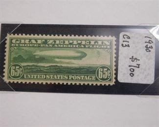 1930 Graf Zeppelin 65 Cent Stamp