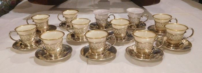 Lenox Sterling and Porcelain Tea Set