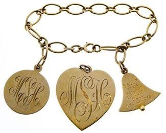 14k Gold Charm and Bracelet