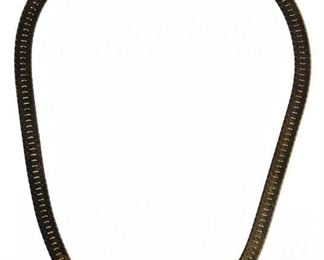 14k Gold Flat Braid Necklace