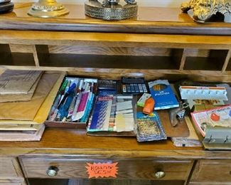 Desk contents