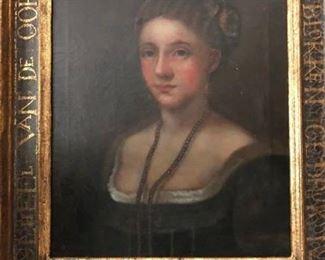 Portrait original oil painting