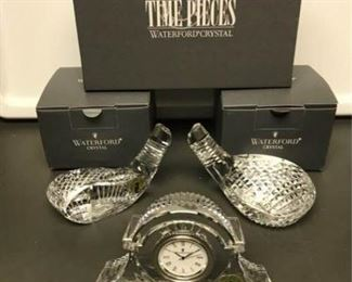 Waterford Crystal Clock and Golf Club Heads