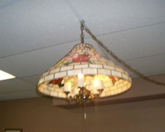 Hanging stain glass lamp