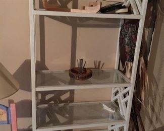 White Glass top shelf
