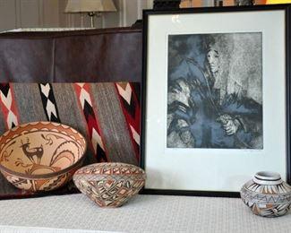 Zuni and Hopi ceramic pieces (Zuni bowl sold)