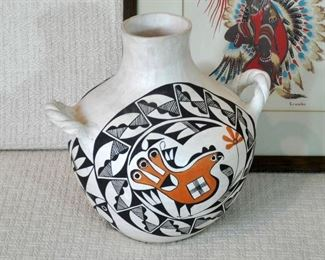 Acoma pot with handles - SOLD at Preview