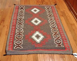 "Pattern has Crystal elements, 29"" by 50"", goat wool mohair, high quality weaving, undetermined age"