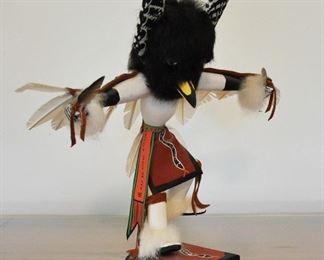 Large White Eagle Dancer Kachina with removable headdress