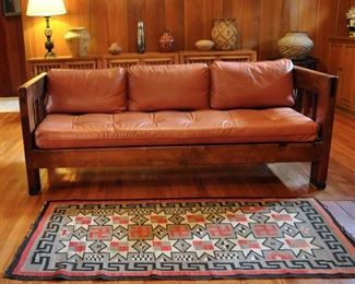 Taos daybed with fine custom leather cushions