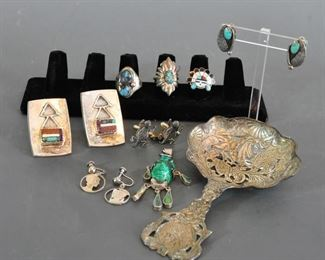 Misc. pieces including cuff links, earrings, etc.  Sun God ring was removed from sale.