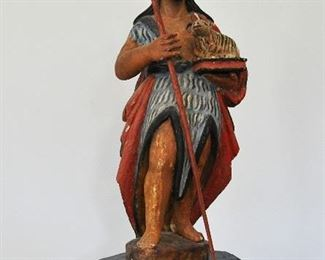 19th century St. John the Baptist santos from the New Mexico Territory.  See our website for pictures of all bultos and santos.