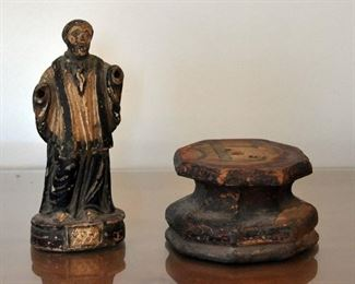 This small saint is possibly the oldest one from around 1839 - shown with a base that has no saint