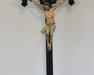 "This is a outstanding 34"" crucifix dating from the late 1700s"