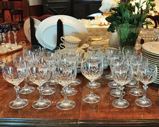 Fine Schott Zwiesel crystal in the Gardone pattern - purchased from Anderson Bros.