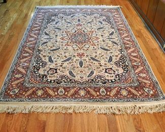 "Entry Persian rug, very well made in excellent condition - 74"" by 50"""