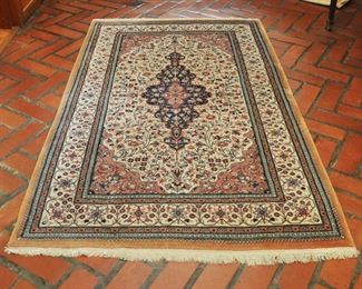 "Attractive and finely woven Persian carpet 73"" by 43.5""  See other Persian, Chinese Kilem and Dhurries on our website."