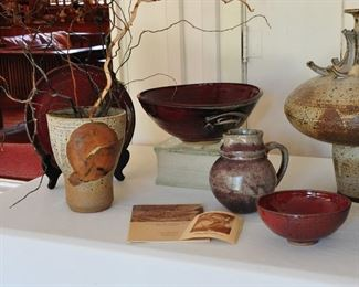 1960s ceramic studio art by Franz Kriwanek - used local West Texas materials to create his pieces.