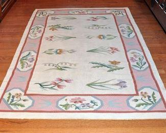 Floral Chinese Kilem wool rug, original price $750