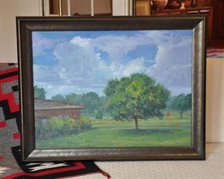 Paul Milosevich painting  - view of Tech Terrace Park
