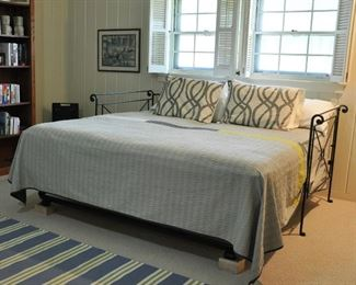 This a custom metal daybed with trundle that was configured as a king bed in the guest room - original cost of $1300 - very nice - shipped here from NYC