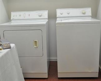 Older washer and dryer pair in excellent working order - we have used them.