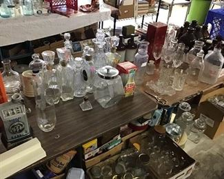 A SMALL portion of the Collection of bottles.