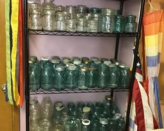 Showing only a small portion of the canning jar collection.