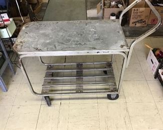 Another metal utility cart