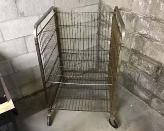 Another metal wire utility cart