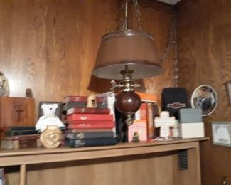 Bibles, Collectibles  & Hanging Lamp