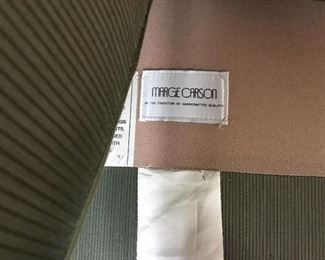 Marge Carson Label on Love Seats. Love Seats purchased from Masons Furniture Store - Bellevue.