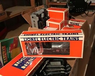 Extensive Lionel Train Layout Collection in boxes