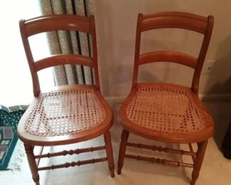Cane chairs. Good shape.