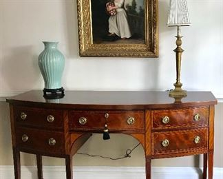 One of two Baker Historic Charleston sideboards