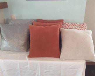 8 Decorative Pillows
