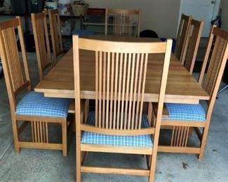 Canal Dover Cherry and Iron Table and 8 chairs