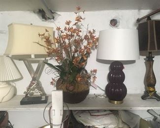 New Lamps, vases...