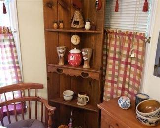 Pine corner stand