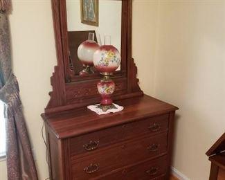 Antique Deesser with Mirror