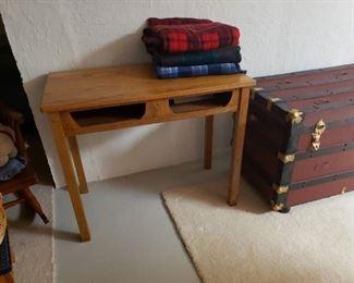 Refinished oak school desk