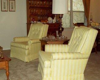 Matching chairs w. Stiffel lamp.