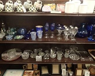 MORE Beautiful Glassware. Picture Frames.Cannisters.Coffee Cups/Saucers.